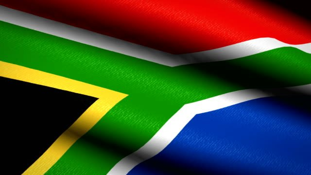 South-Africa-Flag-Waving-Textile-Textured-Background-Seamless-Loop-Animation-Full-Screen-Slow-motion-4K-Video