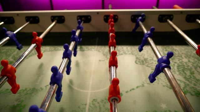 Näher-der-roten-und-blauen-Spieler-der-Fußballtabelle