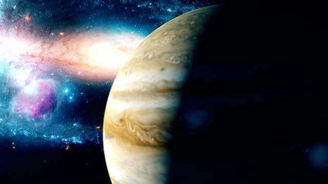 Realistic-beautiful-planet-Jupiter-from-deep-space