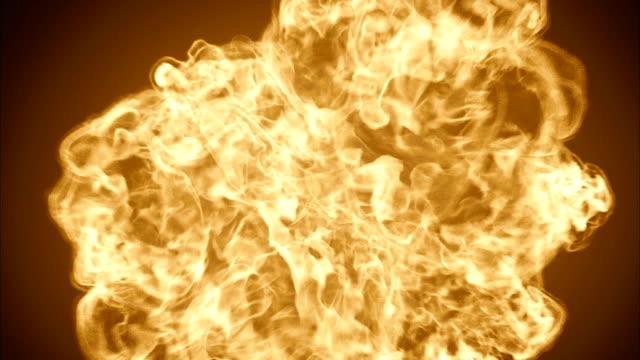 Enorme-explosión-dramática-de-bola-de-fuego-muy-caliente-hacia-la-cámara-3D-ilustración