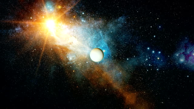 Realistic-beautiful-planet-Uranus-from-deep-space
