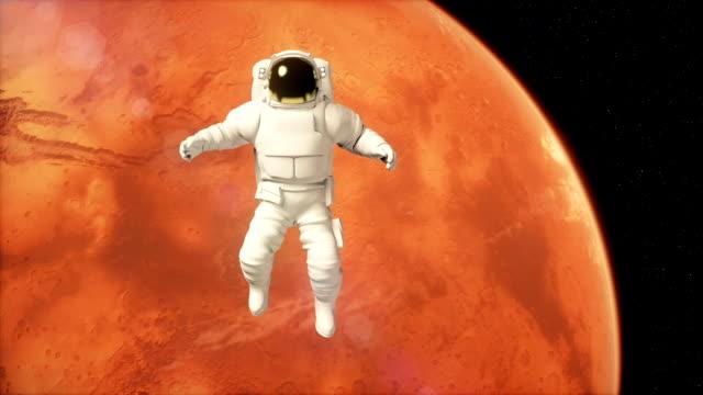 Astronauten-in-den-Weltraum-fliegt-über-den-Planeten-Mars