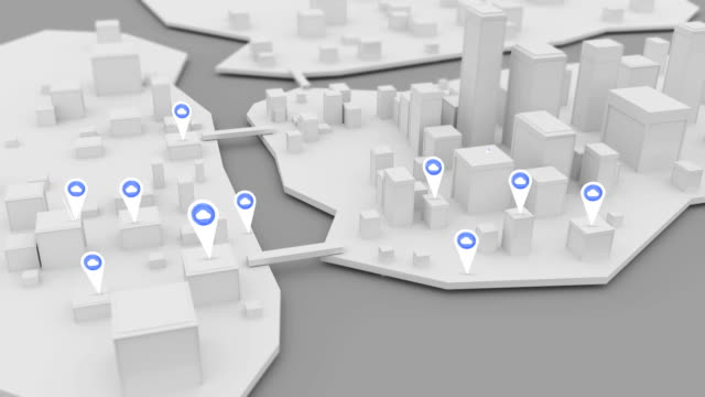 Uploading-Cloud-internet-icons-popping-up-over-3D-modeled-city