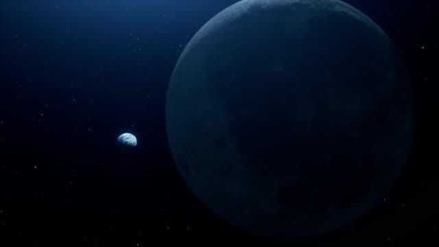 Una-hermosa-vista-en-el-espacio-a-la-tierra-de-la-luna