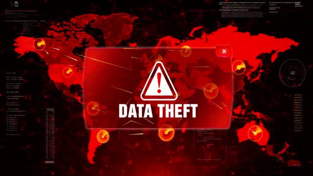 Data-Theft-Alert-Warning-Attack-on-Screen-World-Map-Loop-Motion-