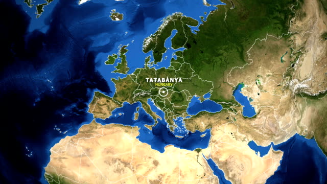 EARTH-ZOOM-IN-MAP---HUNGARY-TATABANYA