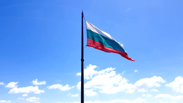 Bulgarian-flag-flutters-in-the-wind