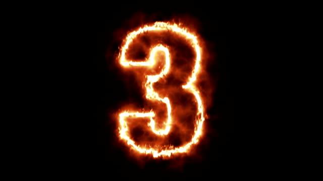 3---tres-caliente-ardiente-número-sobre-fondo-negro