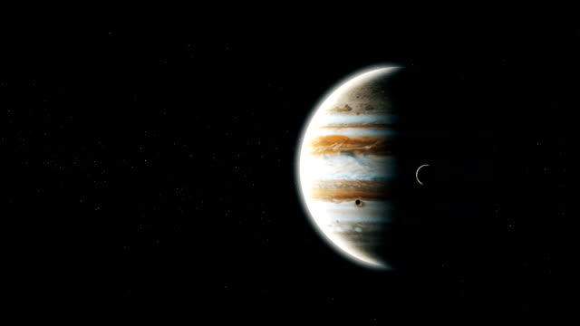 Realistic-planet-Jupiter-from-deep-space