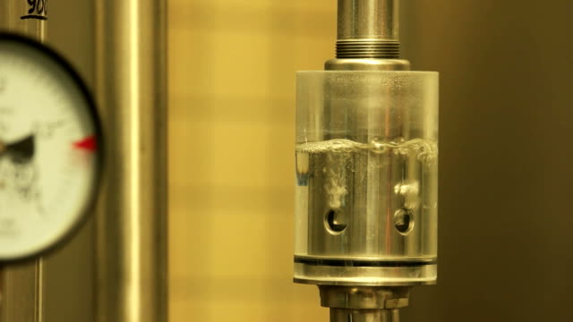Pressure-safety-valve-for-brewery-in-action-