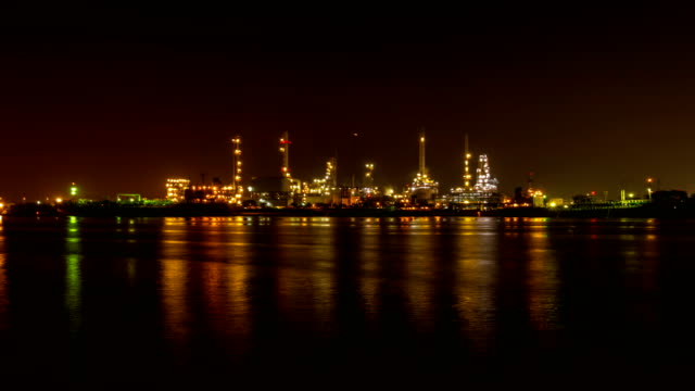 Oil-Refinery-Station-at-morning-Thailand-(Time-Lapse)