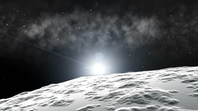 Fly-over-snow-white-landscape-surface-space-nebula-star-field-background-The-particle-merges-into-a-Happy-new-year