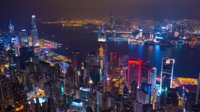 night-illumination-harbor-cityscape-aerial-timelapse-panorama-4k-hong-kong