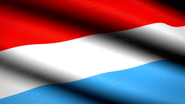 Luxembourg-Flag-Waving-Textile-Textured-Background-Seamless-Loop-Animation-Full-Screen-Slow-motion-4K-Video