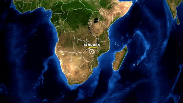 EARTH-ZOOM-IN-MAP---ZIMBABWE-BINDURA