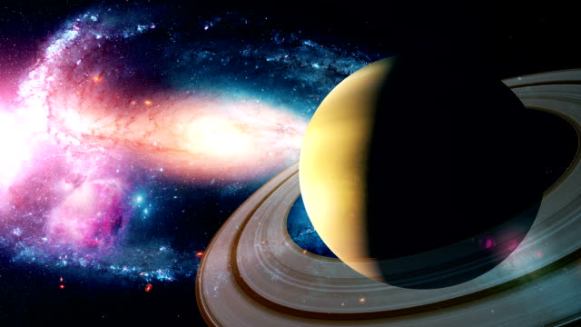 Realistic-beautiful-planet-Saturn-from-deep-space