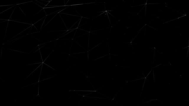 Animación-de-fondo-tecnología-abstracta-que-simboliza-la-interconexión-de-la-red-informática-con-parpadeo-en-las-articulaciones