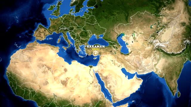 EARTH-ZOOM-IN-MAP---TURKEY-KARAMAN