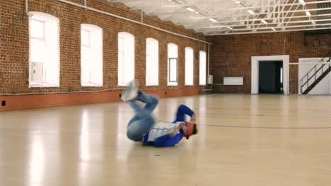B-boy-dancing-in-sport-gym