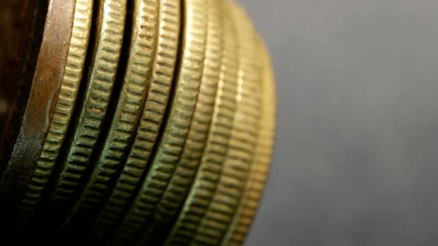 Close-up-of-very-old-coins