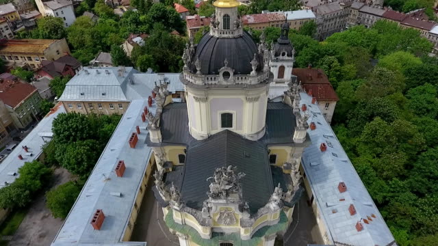 Aerial-shooting-the-drone-slowly-descends-over-St-George-s-Cathedral