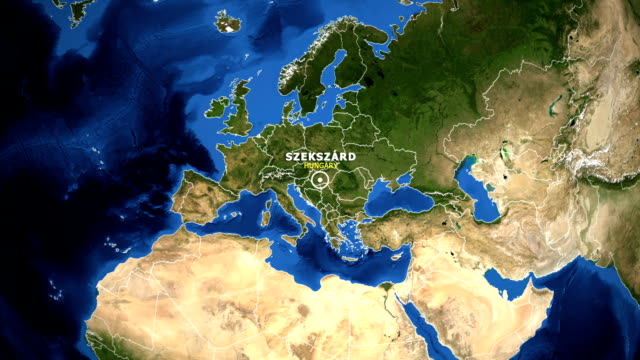 EARTH-ZOOM-IN-MAP---HUNGARY-SZEKSZARD