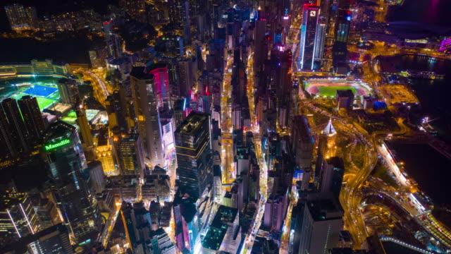 night-illuminated-wan-chai-district-aerial-timelapse-panorama-4k-hong-kong
