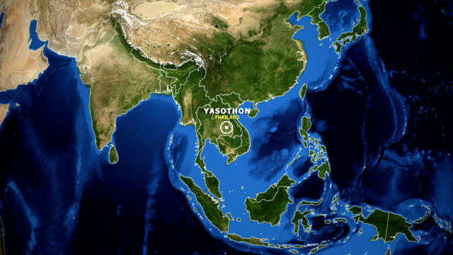EARTH-ZOOM-IN-MAP---THAILAND-YASOTHON