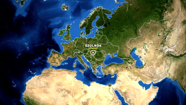 EARTH-ZOOM-IN-MAP---HUNGARY-SZOLNOK