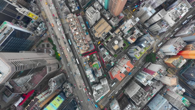 day-time-cityscape-traffic-road-aerial-topdown-panorama-4k-hong-kong