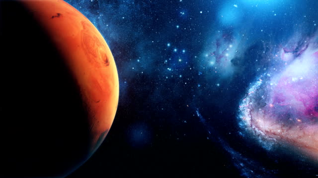 Realistic-Planet-Mars-from-space