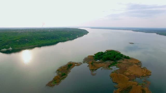 aerial-View-on-the-islands-of-the-River