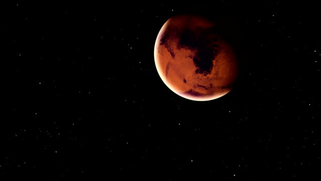 Realistic-planet-Mars-with-meteorites-from-deep-space