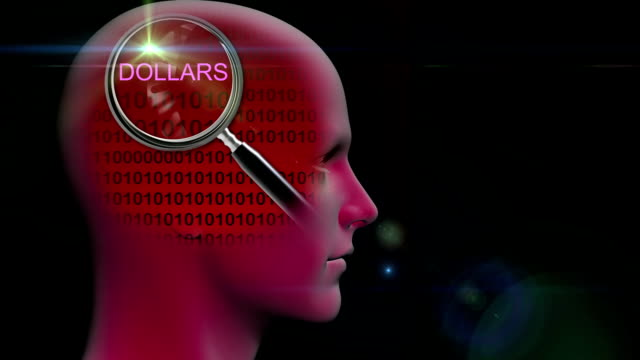 animación---Perfil-de-un-hombre-con-cerca-de-la-lupa-en-la-palabra-dólares