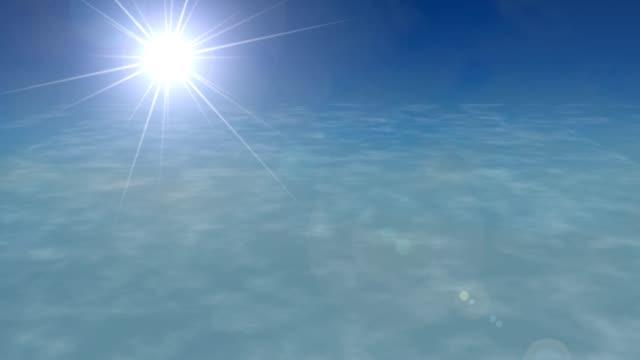 Volando-sobre-las-nubes-destello-de-lente-de-avión-avión-sky-estratosfera-sol-4k