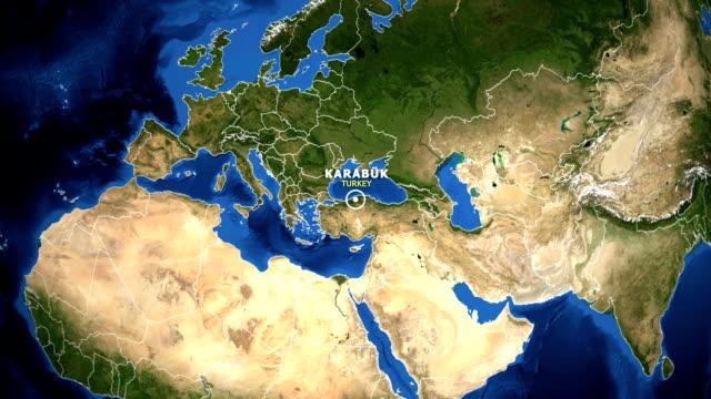 EARTH-ZOOM-IN-MAP---TURKEY-KARABUK