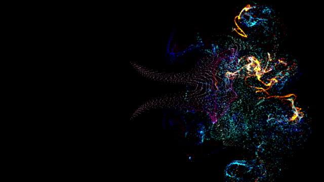 Animation---Partikel-langsam-auf-einem-schwarzen-Hintergrund-fliegen-3D-Rendering-Hat-alpha-Kanal