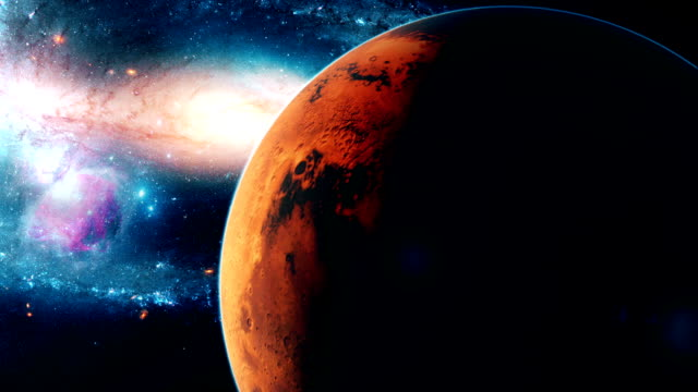 Realistic-beautiful-planet-Mars-from-deep-space