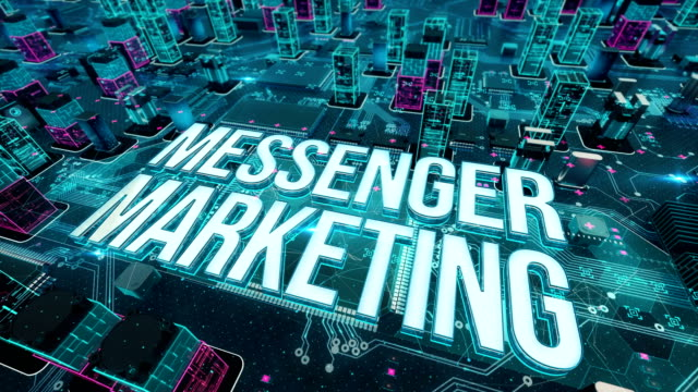 Messenger-marketing-with-digital-technology-concept
