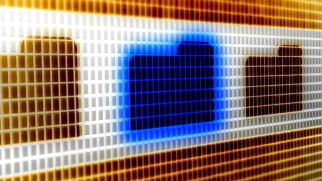 Dateisymbol-auf-dem-Bildschirm-4K-Auflösung-Looping-