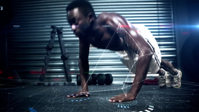 Muscular-man-haciendo-push-ups