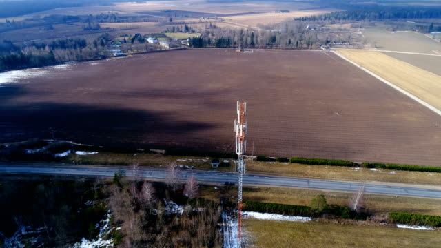 Landscape-aerial-shot-of-the-empty-wide-field