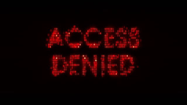 """The-words-""""access-denied""""-consisting-of-binary-code-the-result-of-the-operation-access-control-system"""