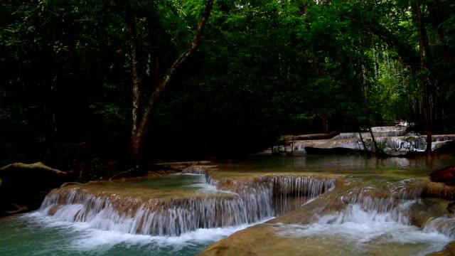 Beautiful-waterfall---Erawan-waterfall-at-Erawan-National-Park-in-Kanchanaburi-Thailand-