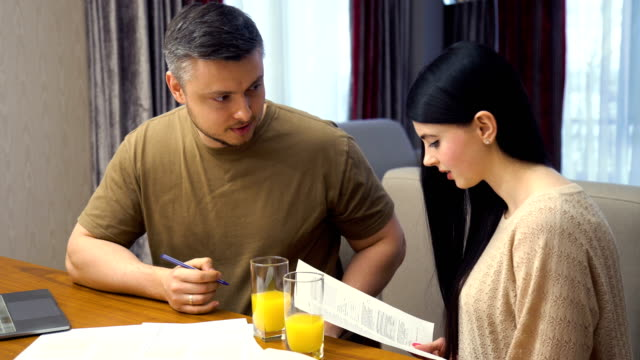 family-home-business-document-paperwork-discussion
