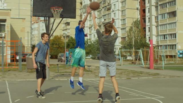 Basketball-player-scoring-field-goal-during-game