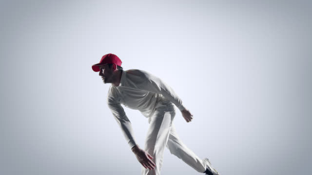Cricket-player-in-action-on-white-background