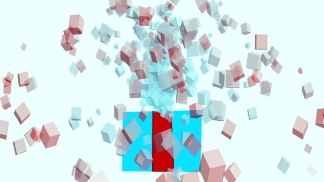 4-k-Geschenk-Box-Exploison---Stock-Video