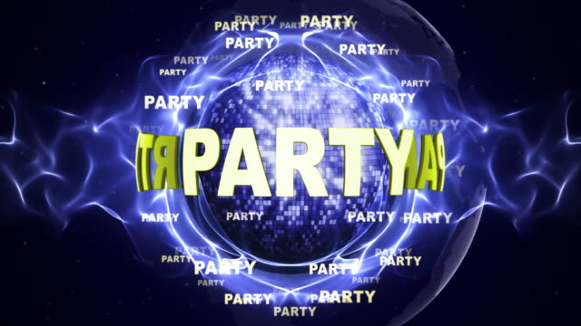 PARTY-Text-Animation-and-Disco-Ball-Loop