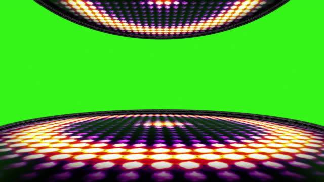 Circle-Bulb-Lights-Room-Background-with-Green-Screen-Loop